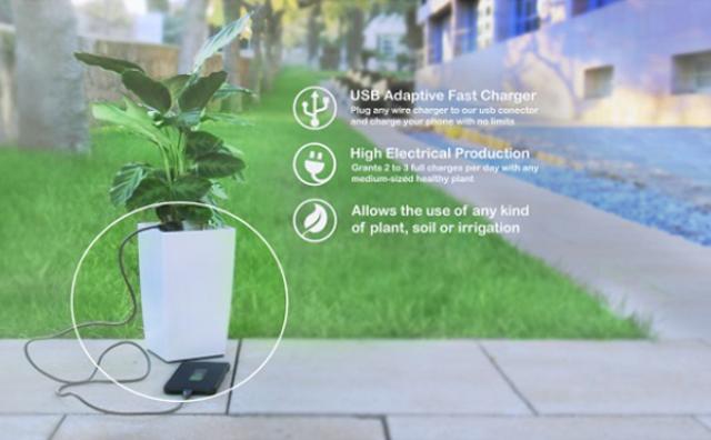 画像: 植物の光合成でスマホを充電☆エコな発電プランターがすごい