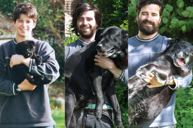画像1: ある男性と愛犬の切なくも、心温まる姿に多くの人々が胸打たれている。 きっかけは、男性がImgurに投稿したこちらの写真▼ まったく同じ場所で、同じ男性が、同じワンコを抱いている。但し上から下の写真に行きつくまでには、15年の年月が経過しているとか。 子犬は現在15歳 一番上は生まれたばかりの子犬と共に、次が10年後、最後が15年後の今現在の姿。 The Dodoが伝えるところによると、男性の名はゴードン・ドラクロワさん。犬の名前はバーディーだそうだ。 ベルギーに住むゴードンさんが14歳の時、飼い犬のメグが子どもを産み、そのうちの1匹がバーディーだった。 がんの告知受け、最期の時迫る 15年前から親友同士の2人だが、犬の15歳といえば [...] irorio.jp