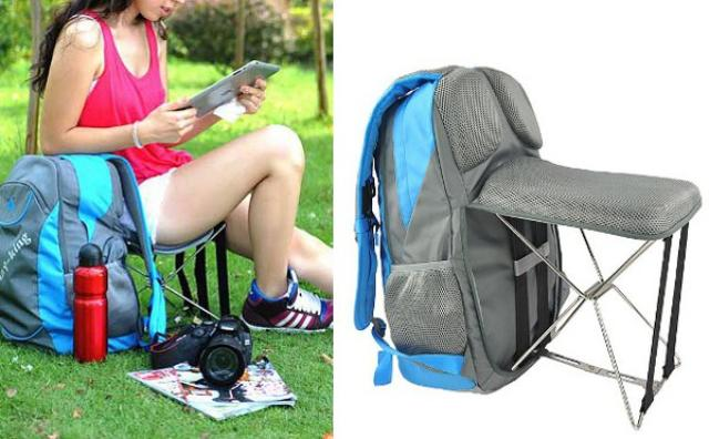 画像: 夏フェスに持参したい、折り畳みチェア付きバックパックが賢すぎ!