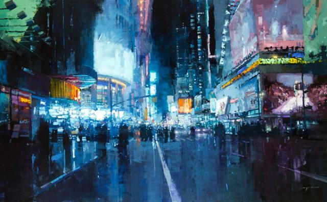 画像: 梅雨にこそ鑑賞したい☆雨に濡れた街並みの風景画が美しい