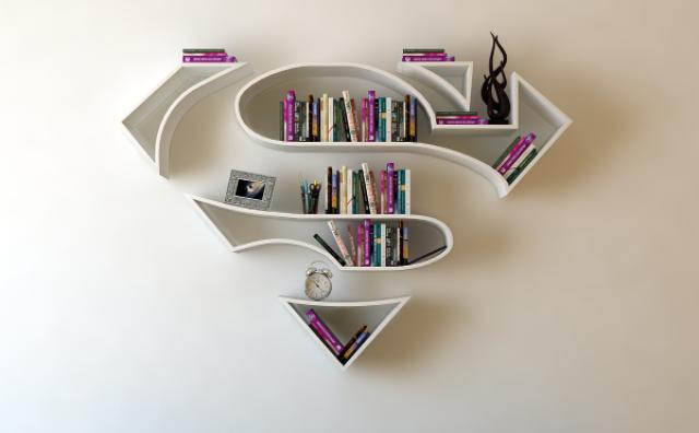 画像: スーパーマンがオシャレな家具に!アメコミ・ヒーローの本棚