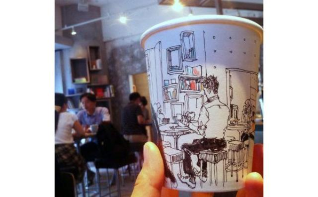 """画像: """"ありふれた日常""""こそ美しい...紙コップに描かれたイラストにほっこり♡"""