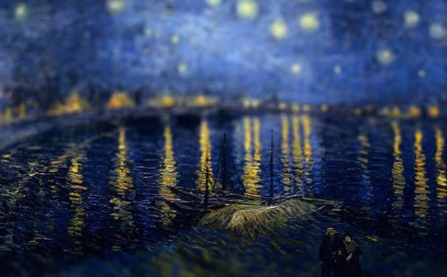 画像: ゴッホの名画がジオラマに?チルシフト風にアレンジした画像に心が躍る♪