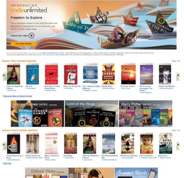 画像1: 2014年7月よりアメリカにてサービスが開始されている、Kindle Unlimited。月額9.99ドルで100万タイトルにも及ぶタイトルが読み放題、またオーディオブックも聞き放題と本好きにはたまらない内容ですが、いよいよ8月より日本でもサービススタートが予定されているようです! The post Kindle Unlimited、いよいよ日本で8月よりスタート?月額980円、講談社や小学館も参加か? appeared first on Spotry.me. spotry.me