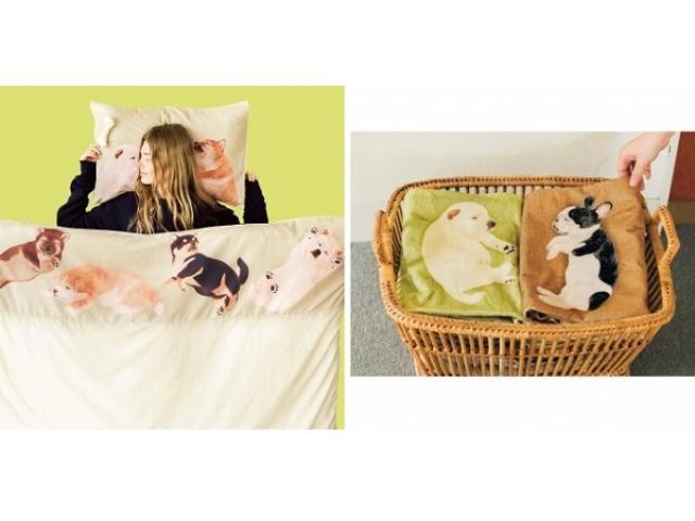 画像: なんてワンダフル! 子犬まみれで眠れる「まくら&布団カバーセット」が誕生!子犬が寝てるバスタオルもラブリー♡