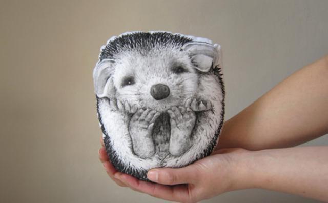 画像: 思わず抱きしめたくなる♡手描きの動物クッションがかわいすぎる