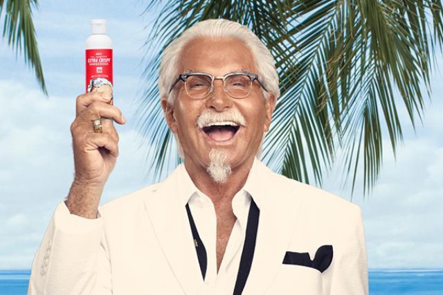 """画像1: あのカーネル・サンダースが小麦色に! アメリカのKFC(ケンタッキーフライドチキン)が、フライドチキンの香りのする日焼け止めを開発したと話題になっている。 ちょいワル風味のカーネルおじさん この夏、全米で公開されたCMには小麦色に焼けた、実写版カーネル""""エクストラ・クリスピー""""サンダースが登場。 「KFC's Extra CrispyTM Sunscreen(KFC エクストラクリスピー・サンスクリーン)」と書かれた日焼け止めを持ち、不敵な笑みを浮かべているのだ。 ユニークすぎるキャンペーン KFCでは今夏のキャンペーンとして、フライドチキン・フレーバーの日焼け止めプレゼント企画を実施。 第1回目の配布は好評につき、予定数 [...] irorio.jp"""
