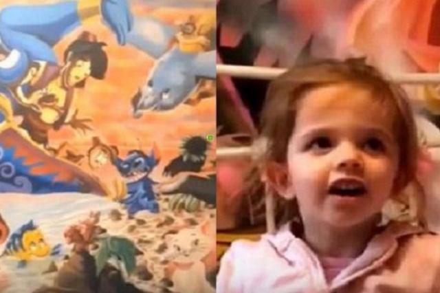 画像1: 娘を喜ばせようと部屋の壁に、ディズニーのキャラクターを描いた父親が話題となっている。 部屋の壁に28のキャラを描く その父親とはAdam Hargreavesさん。アーティストの彼はディズニーと動物が大好きな幼い娘、Bobbieちゃんを喜ばせるものを描こうと決意。 子供部屋の2つの壁いっぱいに28のディズニーのキャラクターを書き、その様子をインスタグラムなどで紹介した。 わずか2日間で見事な絵が完成 まずは「ライオンキング」に着手。 その後「スティッチ」や「アリエル」を描いていく。 さらに「ダンボ」や「アラジン」も登場。 「わんわん物語」のレディとトランプも描く。 そしてついに完成。 Adam Hargreavesさん(@artbe [...] irorio.jp