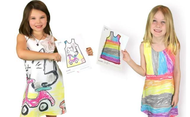 画像: 未来のファッションデザイナーが誕生するかも!?子どものお絵描きでワンピースを作るサービスがステキ♡