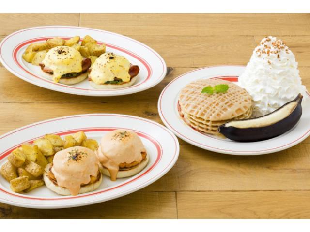 画像: カニ、ハム、バナナを堪能!Eggs 'n Thingsにこの秋限定のエッグスベネディクトとパンケーキが誕生
