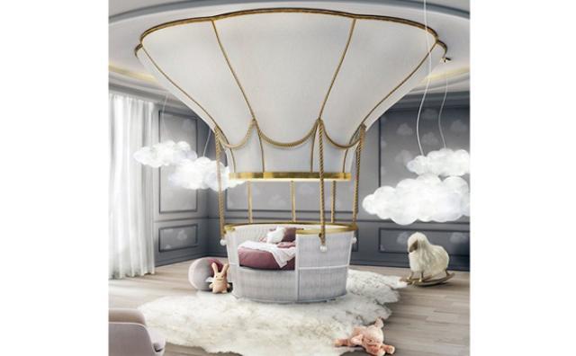 """画像: ふわふわ飛んでいきそう♡お姫様気分になれる""""気球ベッド""""がゴージャスすぎる"""