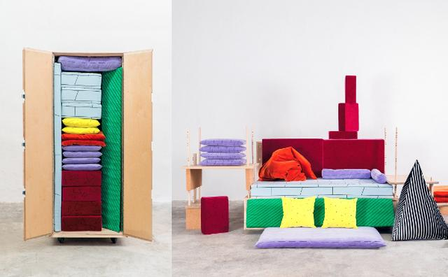 画像: これだけでベッドもソファも!カラフル多機能家具トランクがすごい