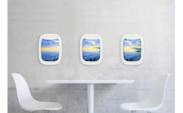 """画像: お部屋が機内に!?""""飛行機の窓""""をモチーフにした写真立てがユニーク"""