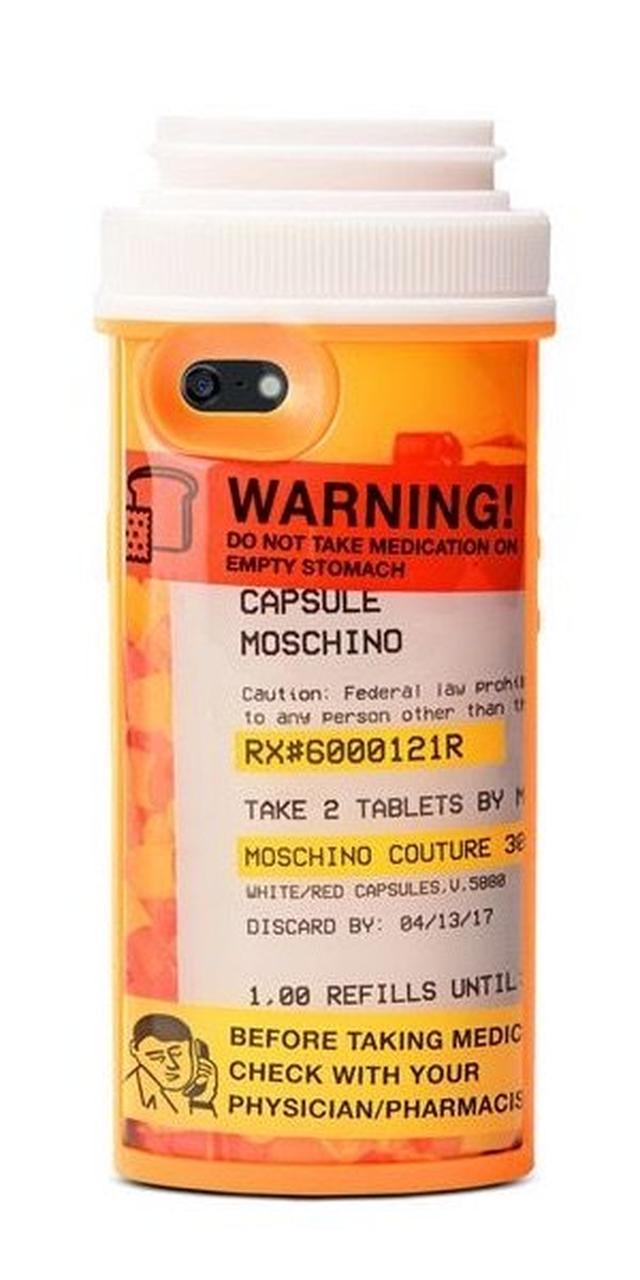 画像: MOSCHINOから新作が登場!市販薬パッケージのデザインで個性的なiPhoneケース☆