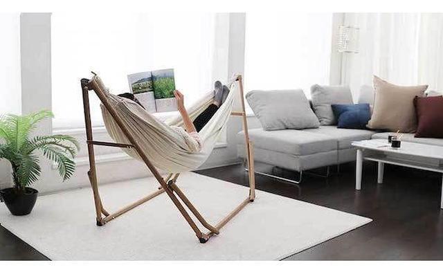 画像: こんなの欲しかった♡組み立て簡単♪お部屋のインテリアにもなる室内用ハンモックがとっても便利