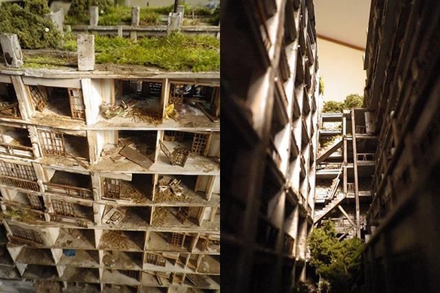 """画像1: まるで映画のセットのようにリアルなジオラマ作品""""光さす庭(軍艦島日給社宅)""""の儚い美しさに心が震えると話題を呼んでいる。 柔らかな光に照らされた中庭に この作品を制作しているのは、ジオラマ作家のひなたさん(@honononnohohon)。 瓦礫やブルーシートを置く時、木や茂みを植える時。ピンセットで置きたいものを持って、ウロウロいろんなところに仮置きしてみて「ここ!」と思うところを探します。しっくりくると気持ちいいです(笑) #軍艦島ジオラマ pic.twitter.com/kDJlKIW9F2 — ひなた@10/15は天神製作会 (@honononnohohon) 2016年8月9日 朽ちていく建物に囲まれた中庭は柔らかな光に照 [...] irorio.jp"""