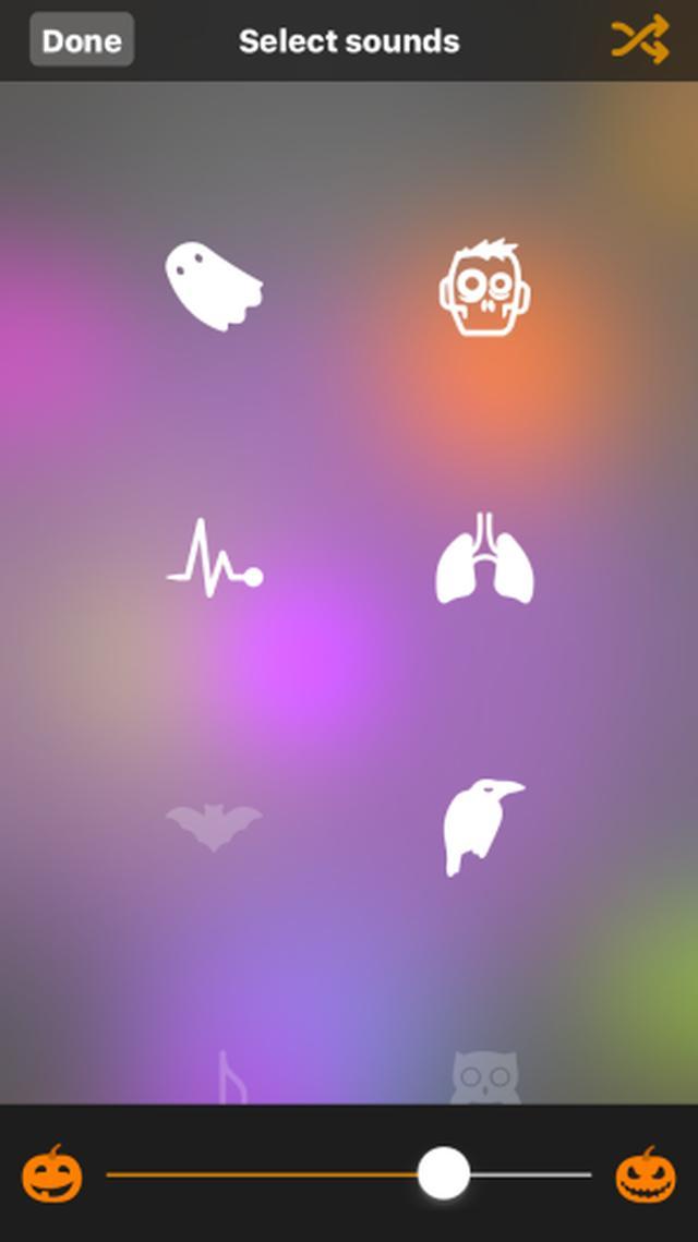 """画像: 自宅で""""ハッピーハロウィン""""したい人へ♪お墓やフクロウ、カラス、悲鳴などハロウィン風環境音を楽しめるアプリ"""