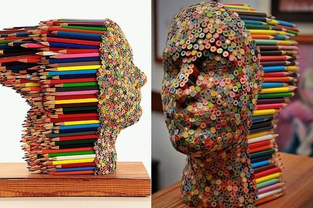画像1: アメリカのアーティストがネット上に投稿した彫刻が話題になっています。 色鉛筆を積み重ねて モリー・ガンバーデラさんは、イラストから大きな彫刻まで様々な素材を使ったアートを制作しているアーティスト。 中でもユニークなアートがこちら。 Molly Gambardellaさん(@mollygeeart)が投稿した写真 – 2016 10月 18 12:55午後 PDT 使っているのはオーソドックスな色鉛筆...といっても、色鉛筆で描いたのではなく、それ自体で作った頭像です。 「いいね!」は24時間で通算25万以上 「Collor blind」というタイトルのこの作品は、写真家のマイク・フランツマンさんが撮影。 Instagram [...] irorio.jp