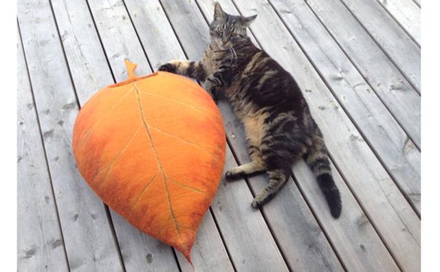 画像: にゃんこが木の葉の中でぬくぬく...♡お部屋に小さな森が出現する猫ベッドがオシャレ