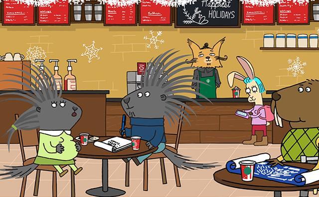 画像: 米スタバがオリジナルアニメを公開☆ゆる~い世界観がクセになる♪