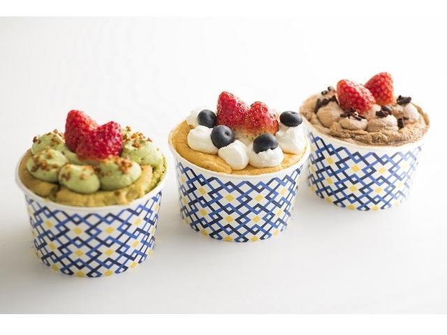 画像: ミニサイズのデコが可愛い!スプーンで食べるシフォンケーキ