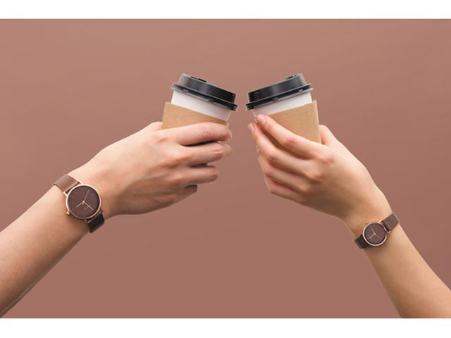 画像: バレンタイン&ホワイトデーに!チョコレート色のペア時計