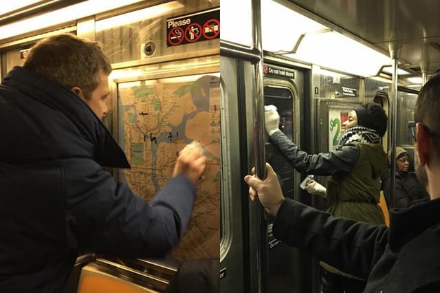 画像1: トランプ大統領が、一部の国からの入国禁止令を発令したことに端を発し、人種差別の問題に敏感になっているアメリカ。 そんな同国では先週、民族の壁を超えた心温まる出来事が目撃され、人々の心をホッコリとさせている。 NYの地下鉄に落書き きっかけはある男性が、ニューヨークの地下鉄内で目にした光景を、自身のフェイスブックで公開したため。 その投稿がこちら▼ この街で暮らすグレゴリー・ロックさんは、先週末、マンハッタンから地下鉄に乗った際、車内の広告や窓など、至る所に、ユダヤ人を中傷する言葉と共に、ナチスのシンボルである「卍(かぎ十字)」が書かれていることに気が付いた。 投稿によると、車内は静まり返っており、乗客は互いに顔を見合わせ、戸惑いと居 [...] irorio.jp