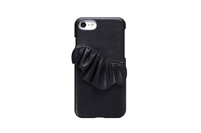 画像: レザー×フリルの甘辛iPhone 7ケースが可愛い♡ 甘さひかえめが良い人にはブラックも
