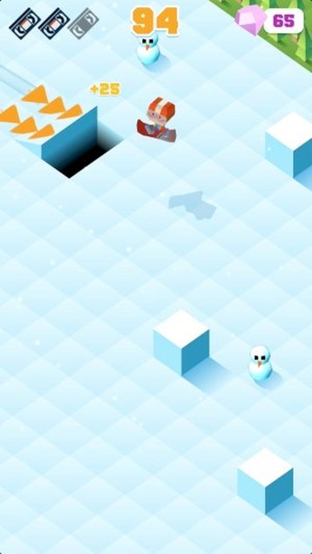 画像: 適度な難易度で遊びやすい! 派手なアクションが楽しいゲームアプリ『Blocky Snowboarding』