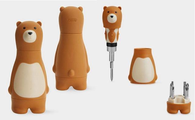 画像: 今すぐ買える!女の子にぴったりのクマさんドライバーセットでDIYマスターになろう♪