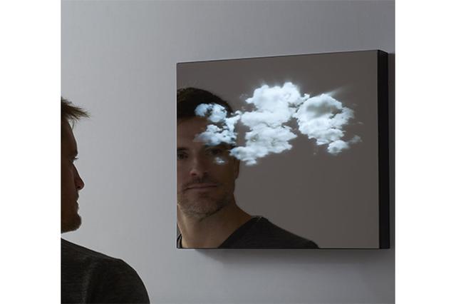 画像: これは...窓!?太陽と雲の3D映像を映し出す鏡が神秘的!