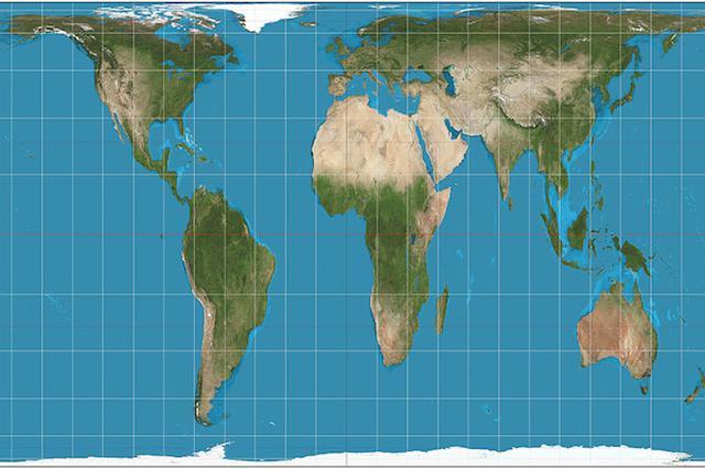 画像1: 米国マサチューセッツ州ボストン市の公立校約600校が、今月21日、授業で使用する世界地図をガル・ピーターズ図法のものに切り替えた。 お馴染みのメルカトル図法を廃止 日本と同様米国でも、学校の教室で使われている世界地図はメルカトル図法のものだ。ボストン市の公立校でも、今月21日まではそうだった。 メルカトル図法は16世紀ネーデルランドの地理学者、ガラルドゥス・メルカトルが1569年に完成させた地図の投影法。経度・緯度を示す縦横の線が直線になるため、船が磁石を頼りに航海していた当時にはよく合った地図だといえる。 だが、メルカトル図法による地図は、陸地の面積が非常に不正確だ。例えば、グリーンランドはアフリカ大陸とほぼ同じ広さに見えるが、実 [...] irorio.jp