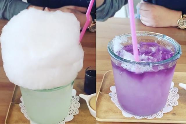 画像: ふわふわの淡雪みたい♡お茶をかけると色が変わる「わたあめレモネード」がフォトジェニック