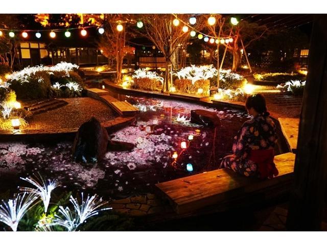 画像: 大江戸温泉×ネイキッド!温泉で満喫する新しいお花見体験