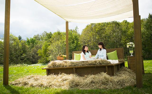 """画像: まるでハイジになった気分♡憧れの""""牧草ベッド""""が「星野リゾート トマム」に登場!"""