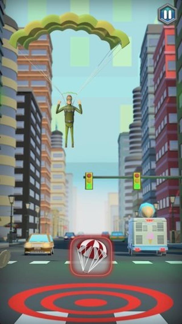 画像: シュールなキャラがクセになる!スカイダイビングをテーマにしたカジュアルアクションアプリ『Jumping Jack's Skydive』