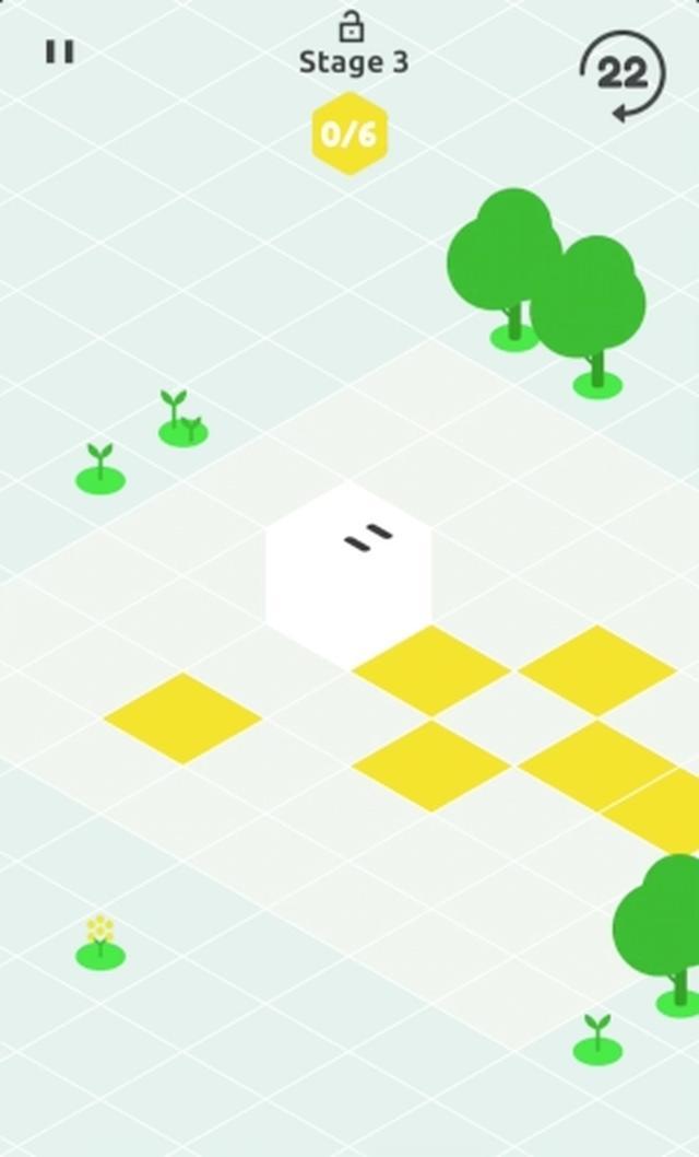 画像: コロコロ転がるキャラが可愛い♡ キューブの6面を塗るユニークパズルアプリ『Fill6』