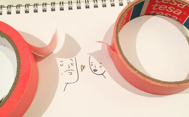 画像: ほんわかカワイイ♡影とイラストを組み合わせた新しい形のアート作品