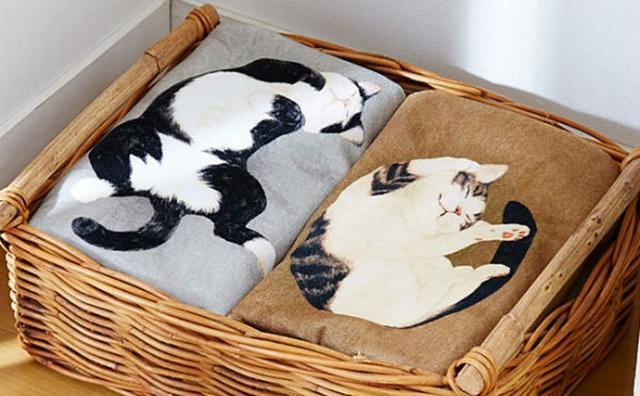画像: 気ままな寝姿にキュン♡ニャンコと同居してる気分になれるバスタオルがかわいすぎる♪