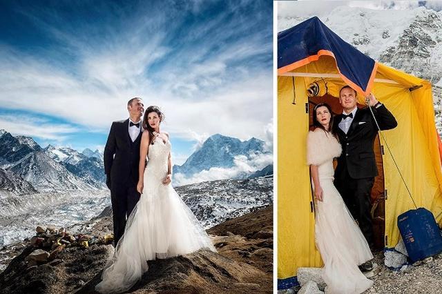 """画像1: 結婚式の準備には時間がかかるもの。米カリフォルニア州在住のアシュリーさんとジェームスさんは、1年の準備期間を経て式を挙げたカップルだ。 ただし、準備の内容はほかのカップルとは大分違うものだったという。 """"会場""""まで3週間かけて向かう アシュリーさんとジェームスさんが式を挙げる場所に選んだのは、ネパール側のエベレスト・ベースキャンプ。 そのために1年間かけて体作りをしたという。また、標高5,000メートルを超えたところにある""""会場""""にたどり着くまでに、体を慣らしながら3週間かかったそうだ。 その会場までの道のりがこちらだ。 Charleton Churchillさん(@charletonchurchill)がシェアした投稿 ̵ [...] irorio.jp"""
