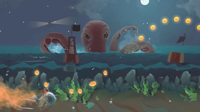画像: 美しいグラフィックと爽快アクション♪クジラに乗る冒険ランアクションゲームアプリ『Run-A-Whale』