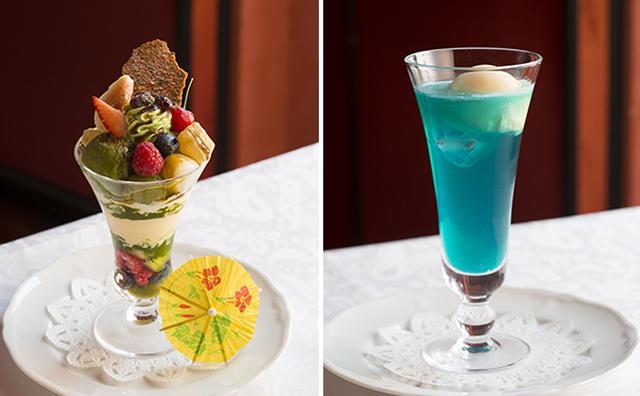 画像: 新橋の芸者さんをイメージ!資生堂パーラーの雅なパフェ&ソーダで贅沢なひと時を♡