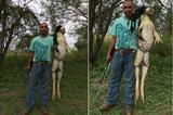 画像1: 5月25日(現地時間)、米テキサス州のサウス・テキサス・ハンティング協会が、Facebookで公開した写真が大きな反響を巻き起こしている。 それがこちらだ。 Markcuz Rangelが、Batesvilleの池で昨日の午後に捕まえたモンスターウシガエルを見せたいっていうんだ。13ポンド(約5.9キロ)だってよ! 26万件以上のシェア ライフルを片手に持った男性が、自慢げに巨大なウシガエルをカメラに向けて差し出しているこの投稿。公開から5日間ほどで3万6,000人以上がリアクションし、26万6,000件近くのシェアを受けて話題となった。 その巨大さもだが、水草が絡まって髪の毛のように見えるのも不気味な写真だ。 写真はどうやら本物 [...] irorio.jp