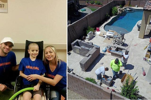 画像1: 地域の住民のサプライズが、がんと闘う息子を支える一家を励ましたようだ。 脳腫瘍と診断された6歳の男の子 米アリゾナ州に住む、平凡だけれども幸せなRaskey一家。彼らに不幸なニュースが舞い込んだのは、今年の3月14日の事だった。次男のコリン君(6歳)に女性のこぶしほどの大きさの脳腫瘍が見つかったのだ。 3月16日にはPhoenix Children's Hospitalにて、半日を超える手術を受けたコリン君。しかし、全ての腫瘍を取り除くことができずに、手術は翌日にも行われることとなった。 手術の後に行われた数週間の放射線治療中、両親であるブレットさんとアリシアさんは、病院に泊まり込んでコリン君を支えていたそうだ。 自宅で待っていたサ [...] irorio.jp