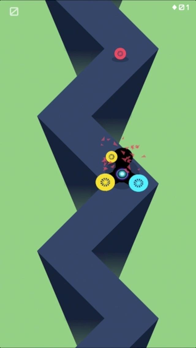 画像: 流行りのハンドスピナーがモチーフ!カラーマッチアクションゲームアプリ『Spinner Zag』