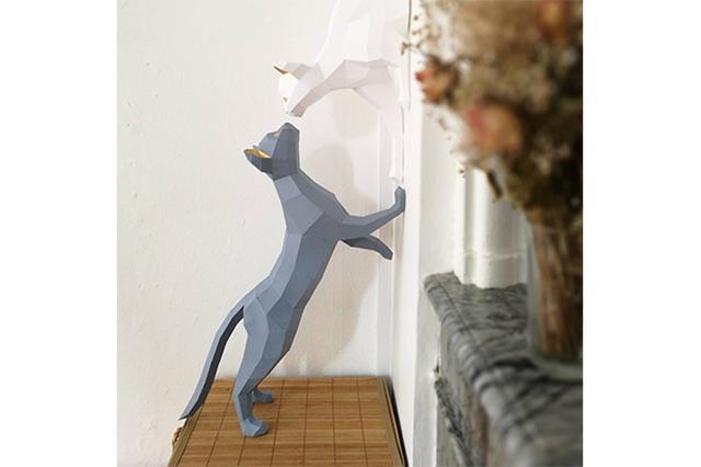 画像: 壁の中から飛び出してる?!すぐに作って飾れる「3Dペーパー・オブジェ」が存在感バツグン