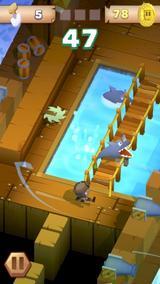画像: 罠ありモンスターありの本格派!ボクセルアートの冒険アクションゲームアプリ『Blocky Pirates』
