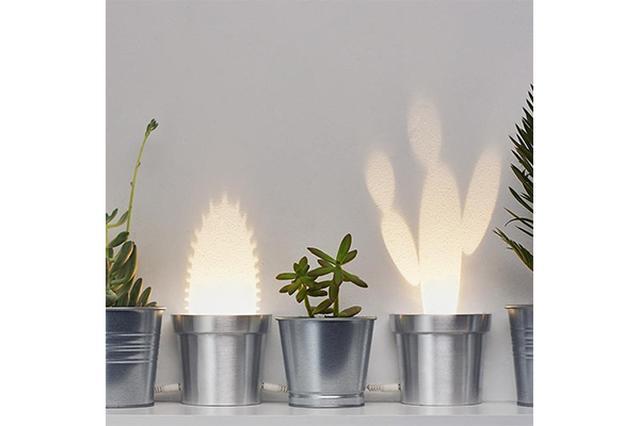 画像: 魔法みたい!スイッチを入れると光のサボテンが現れるランプがかわいい♡