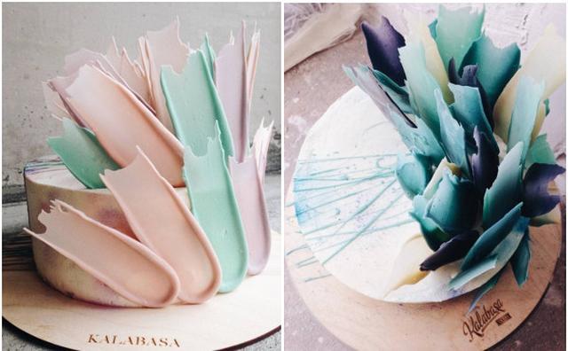 """画像: もはやアート!""""ブラッシュストローク""""にインスパイアされたデコレーションケーキが美しい♡"""