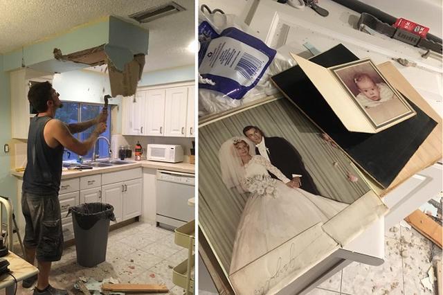 画像1: ボビーさんとミーガンさんのカプシーディス夫妻は、米フロリダ州にある自宅キッチンをリノベーション中、天井裏に隠された2つのものを発見して注目を集めた。 ひとつはキューバ製のワニ革のハンドバッグ。 1940年代から1950年代のものと見られ、お金や元の持ち主が分かるものなどは入っていなかったそうだ。 ▼夫のボビーさんが天井を壊しているところ ▼ちょっとした空間に隠されていた 1963年の結婚アルバムが 他にも何かあるのではないかと天井裏を覗いた夫妻が見つけたのが、1963年の結婚アルバムだ。 中には招待状も入っており、持ち主は1963年9月14日に、ニューヨーク州のクイーンズにあるSt. Thomas Apostle教会で結婚式を挙げた [...] irorio.jp